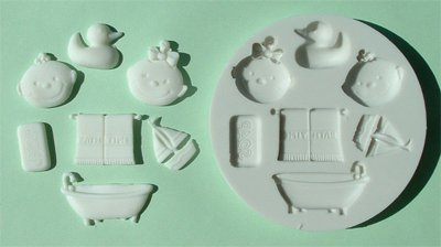 FOOD GRADE MOLD - The Bathtime Design - Cake Decorating Mold - The Art of Cake Dressing - (33)