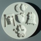 FOOD GRADE MOLD - The Baby Girl Design - Cake Decorating Mold - The Art of Cake Dressing - (56)