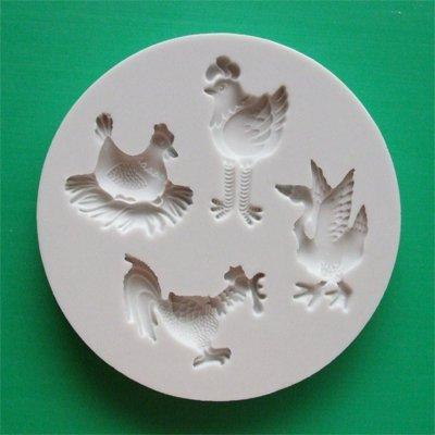 FOOD GRADE MOLD - The Farm Bird Design - Cake Decorating Mold - The Art of Cake Dressing - (57)