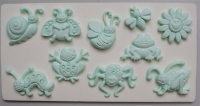FOOD GRADE MOLD - Summer Bugs Theme Design - Cake Decorating Mold - The Art of Cake Dressing - (95)