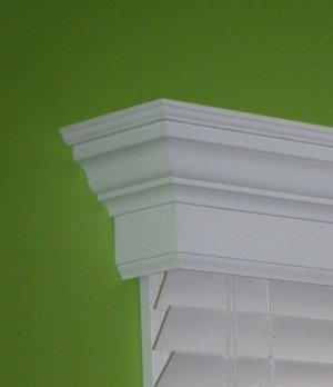 88 inch custom window valance cornice colonial style for Colonial cornice
