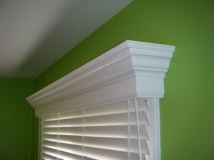 36 Inch Custom Window Valance Cornice Colonial Style