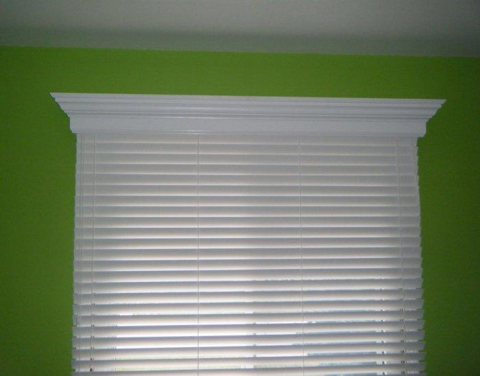 86 inch custom window valance cornice colonial style for Colonial cornice