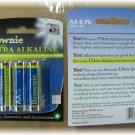 Brownie AA Ultra Alkaline Battery 8 pak  8 packages