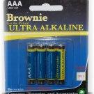 Brownie AAA Ultra Alkaline Battery 4 pak  24 packages