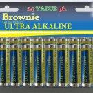 6 pkgs Brownie 24ct  AA Ulta Alkaline Batteries