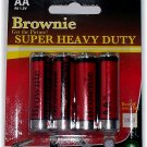3 pkgs Brownie Super Heavy Duty AA Battery 8 pak