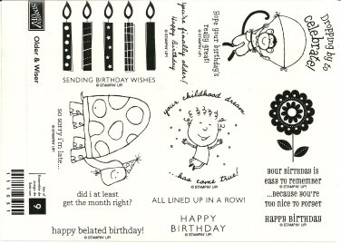 OLDER & WISER � STAMPIN' UP! � RETIRED