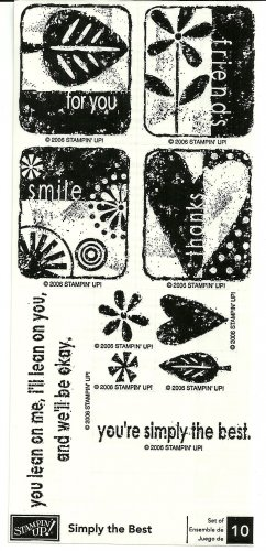 SIMPLY THE BEST - STAMPIN' UP! � 2006 RETIRED