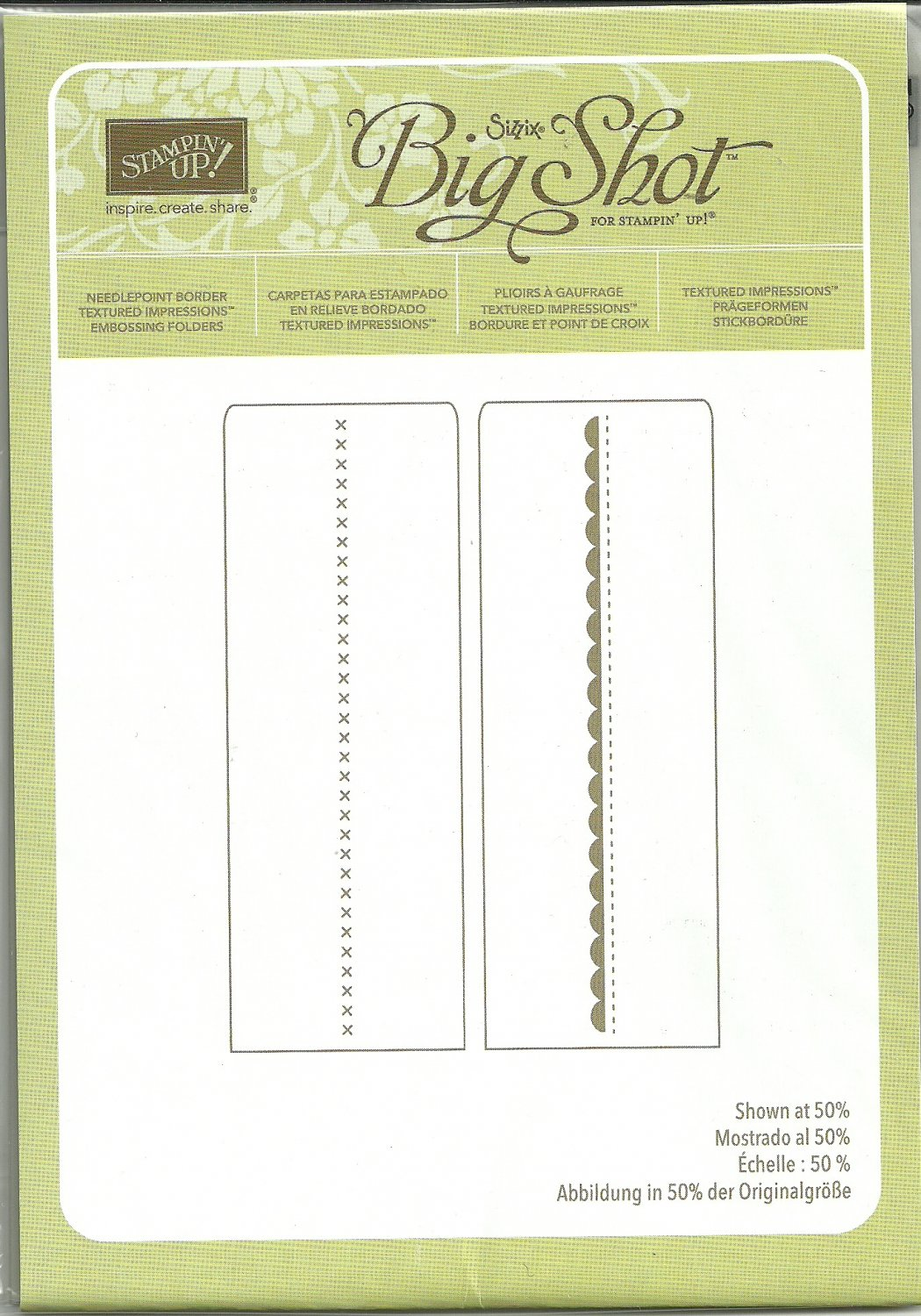 Needlepoint Border Embossing Folder Sizzix Big Shot