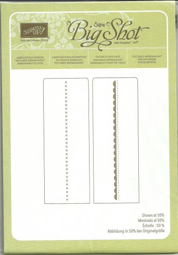 NEEDLEPOINT BORDER - EMBOSSING FOLDER - SIZZIX BIG SHOT for STAMPIN' UP! - NEW