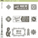 HELLO, LOVELY - STAMPIN' UP! – RETIRED CLEAR MOUNT SET