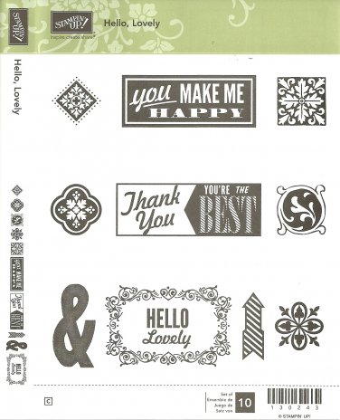 HELLO, LOVELY - STAMPIN' UP! � RETIRED CLEAR MOUNT SET