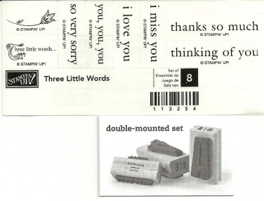 THREE LITTLE WORDS - STAMPIN' UP! - Retired Set - NEW UNMOUNTED