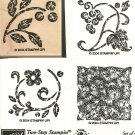 STIPPLED STENCILS - Two-Step STAMPIN' UP! - 2004 Retired Set - 1 Mounted 3 Unmounted