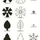 SHAPES & SHADOWS - Two-Step STAMPIN' UP! - Retired 2004 Set - NEW UNMOUNTED