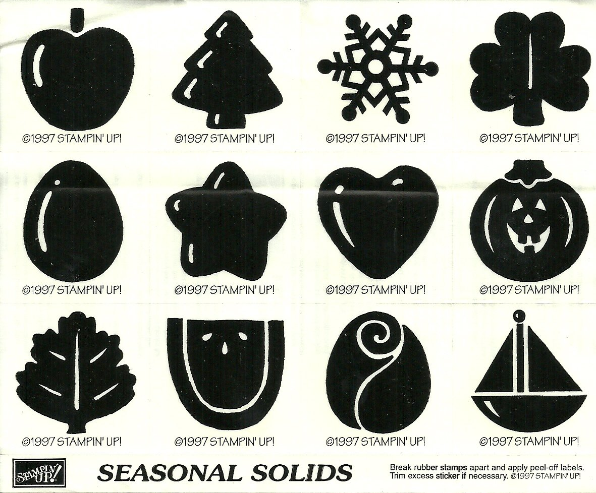 SEASONAL SOLIDS - STAMPIN' UP! - Retired Set NEW UNMOUNTED - All Seasons