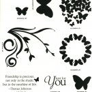 PRECIOUS BUTTERFLIES - STAMPIN' UP! - HOSTESS Retire Set - NEW - w/WOOD BLOCKS