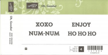OH, GOODIE! - STAMPIN' UP! - Retired - Set of 4 - NEW - WOOD BLOCK 131886