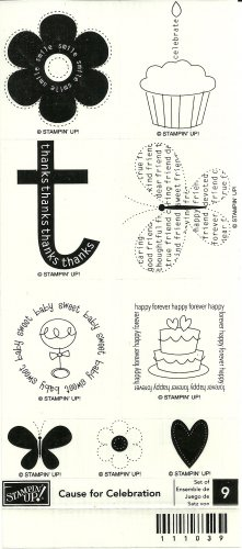 CAUSE FOR CELEBRATION - STAMPIN' UP! - Retired Set - NEW UNMOUNTED - Butterfly