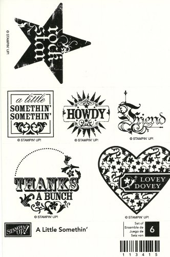 A LITTLE SOMETHIN' - STAMPIN' UP! - Retired Set - NEW UNMOUNTED