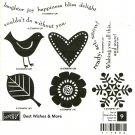 BEST WISHES & MORE - STAMPIN' UP! - Retired Set - NEW UNMOUNTED bird snowflake