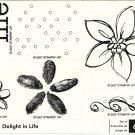 DELIGHT IN LIFE - STAMPIN' UP! - Retired Set of 6 - NEW UNMOUNTED