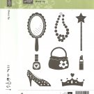 DRESS UP - STAMPIN' UP! - Retired Set - NEW UNMOUNTED - Shoe Wood Blocks