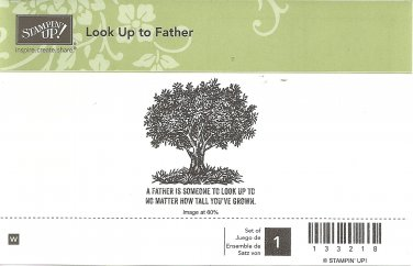 LOOK UP TO FATHER - STAMPIN' UP! - Retired Rubber Stamp - NEW - WOOD BLOCK