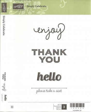 SIMPLY CELEBRATE - STAMPIN' UP! - Retired Set - NEW - Clear Mount