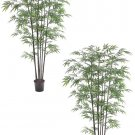 Set of 2 - 7' Black Bamboo Silk Trees - ltb457-gr