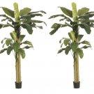 Set of 2 - 9' Silk Banana Palm Trees - lptl47-gr