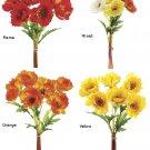 1 Dozen - 12 inch Artificial Poppy Bundle (Choose Color) - fbp984-re