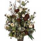 "30"""" Silk Rose, Ranunculus Flower Arrangement - wf2700-cr"