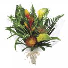 "21"""" CALLA LILLY/PROTEA TROPICALBOUQUET-ORANGE GREEN - fbq210-or"