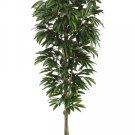 6.5' Artificial Mango Tree in Plastic Pot Two Tone Green - ltm984