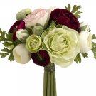 Silk Wedding Flowers Bouquet Set Of 6 - fbq368-bu