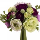 Silk Wedding Flowers Bouquet Set Of 6 - fbq368-pu
