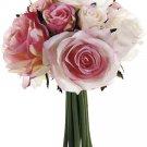 Silk Wedding Flowers Bouquet Set Of 6 - fbq749-pk