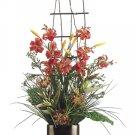 """34"""""""" High Silk Flower Arrangement - Lily / Protea / Grass / Bamboo - wf2725-fl"""