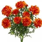 """Set of 6 - 16"""""""" Silk Marigold Flower Bush - fbm197-or-"""