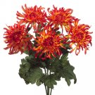 "1 Dozen - 21"""" Artificial Spider Mum Silk Flower Bush - fbm393-fl"