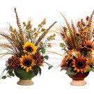 "20""""Hx12""""Wx10""""L Mixed Artificial Sunflower/Daisy/Feather Arrangement - wf0014"