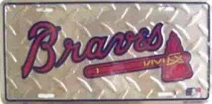Atlanta Braves Diamond License Plate