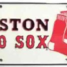Boston Red Sox #1 Fan White License Plate