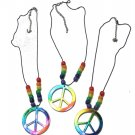 "18"" Rainbow peace sign necklace"