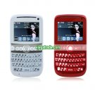TV8900 Dual Card Dual Camera Quad Band TV Function With Trackball QWERTY Keypad Cell Phone
