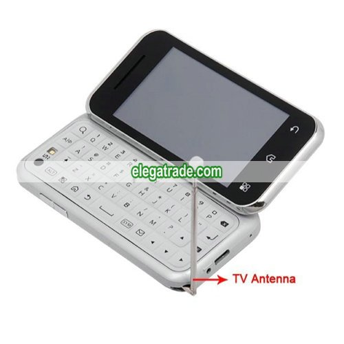 S862 Quad Band  Cards  Standby Camera WIFI Color TV Bluetooth Java   QWERTY China Phone - Silver