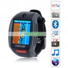 F6 Quad Band Single Card Single Standby Camera Bluetooth 1.8-inch Touch Screen Watch Phone - Gray