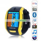 F6 Quad Band Single Card Single Standby Camera Bluetooth 1.8-inch Touch Screen Watch Phone - Yellow
